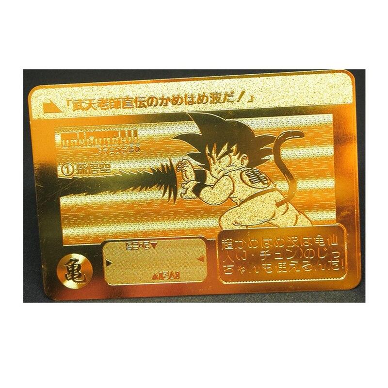 Super Saiyan Dragon Ball Z Stormy Situation Kamehamenami Metal Card Heroes Battle Card Ultra Instinct Goku Game Collection Cards