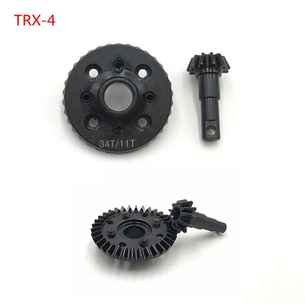1:10 RC Modell Fahrzeug Traxxas TRX4 Bearbeitete Overdrive Ring & Ritzel (11/34 T) getriebe Teile passt high power ESC/motor systeme