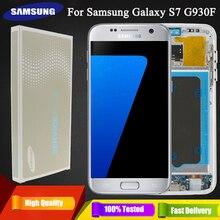 מקורי 5.1 סופר AMOLED LCD עבור סמסונג גלקסי S7 G930 SM G930F G930F LCD תצוגה עם מסך מגע החלפת Digitizer