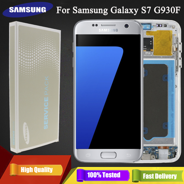 ORIGINAL 5.1 SUPER AMOLED LCD For Samsung Galaxy S7 G930 SM G930F G930F LCD Display With Touch Screen Digitizer Replacement