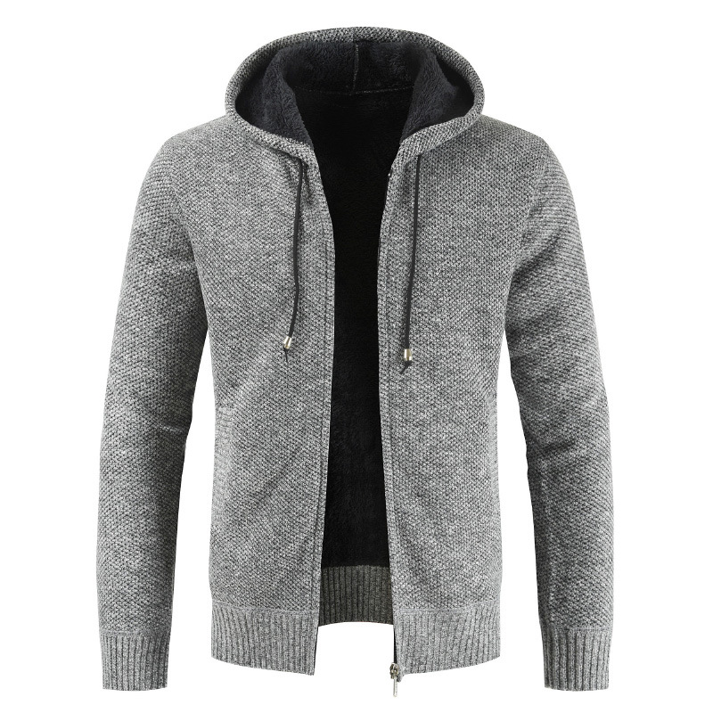 2019 autumn and winter sweaters, men's thin sweaters, medium and long casual jackets, Korean fashion sweaters, slimming coats