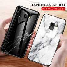 Mokoemi mermer desen cam kılıf Samsung Galaxy J8 J6 J4 artı J2 Pro 2018 J7 J5 J2 Prime telefon kılıf kapak