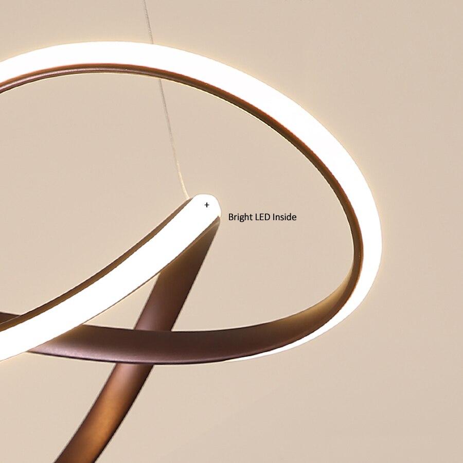 Современный нерегулярный светодиодный светильник люстра из алюминия и акрила, подвесной светильник для столовой, подвесной светильник для... - 5
