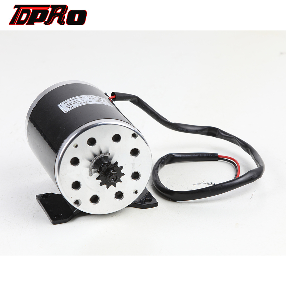 TDPRO New MY1020 <font><b>1000W</b></font> 48V T8F Chain 11T Sprocket Electric DC Brush Motor For Electric Dirt Pocket Bike Scooter ATV Go Kart <font><b>Quad</b></font> image