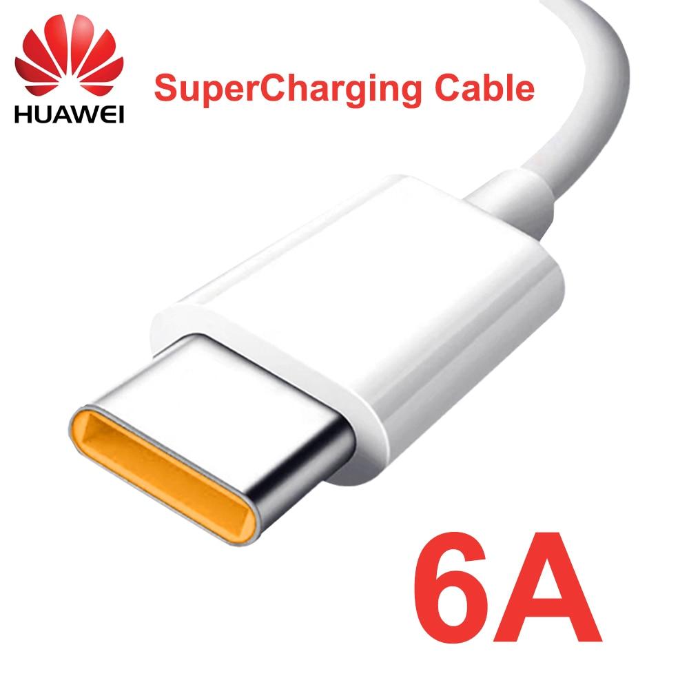 Оригинальное зарядное устройство Huawei Mate 40 Super, 6A, 100 см, 150 см, 200 см, кабель USB Type-C для Nova 7 Mate, 20, 30, 40, P30, P40 Pro, Honor 30, 30S