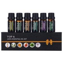 6Pcs / Set Natural Aromatherapy Oils Kit 10 Ml For Humidifie