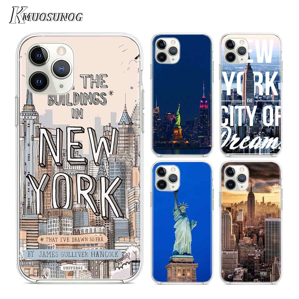 ใส TPU ฝาครอบ New York City สำหรับ iPhone 11 11Pro XS MAX XR X 8 7 6S 6 plus 5S