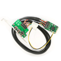 Mini PCI E to IEEE 1394 Controller Card Combo 1x 1394A 6Pin & 2x 1394B 9Pin Adapter for Firewire Digital Camera DV HDD Removable