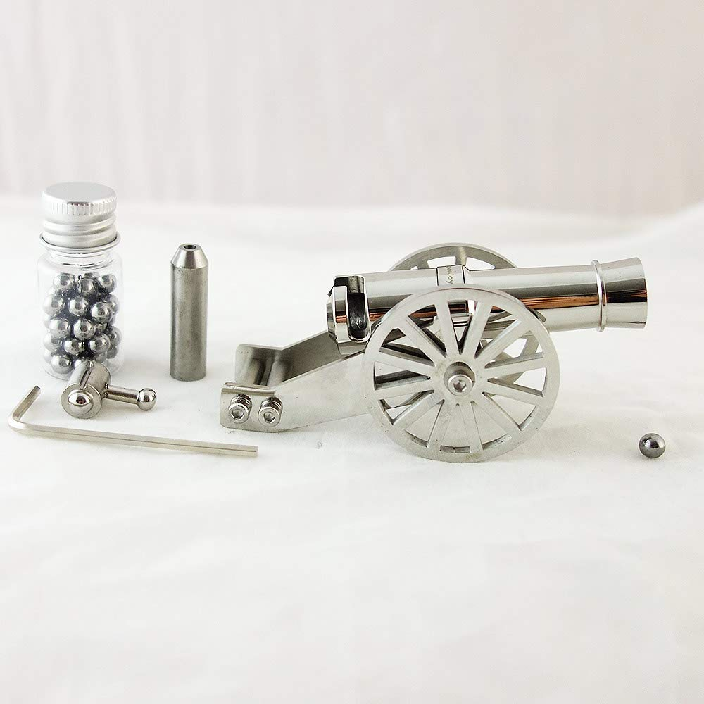 Mini Napoleon Cannon Metal Naval Artillery Stainless Model Kits Collection Desktop Cannon Civil War Cannon Model For Decor