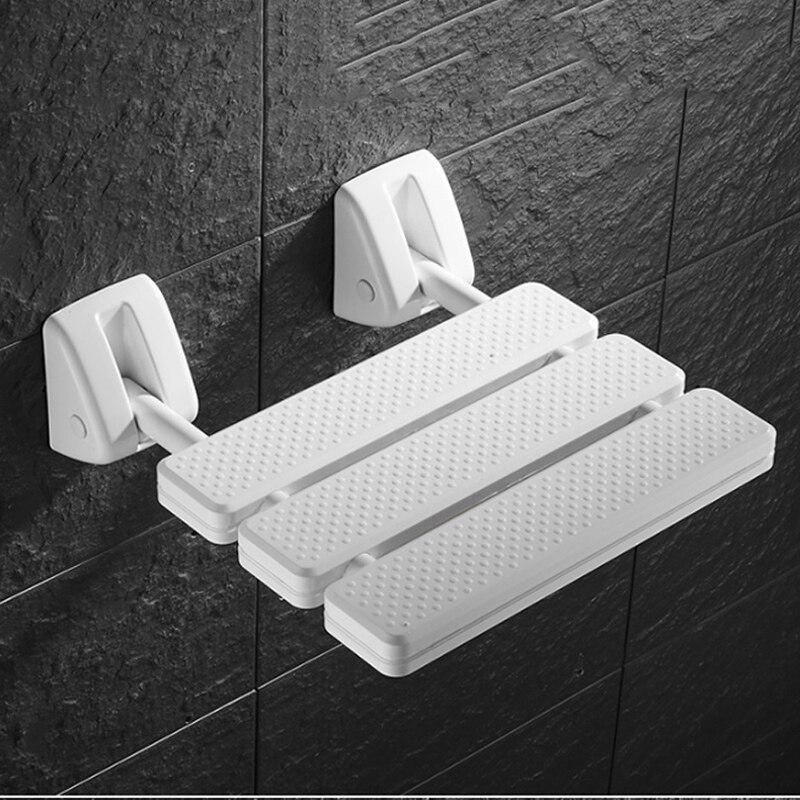 New Wall Mounted Shower Seat Bathroom Shower Folding Seat Folding Beach Bath Shower Stool Toilet Shower Chair