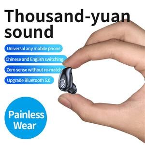 Image 4 - V21 Wireless Bluetooth 5.0 Single Mini Headset In ear Sport Stereo Earphone Handsfree Bluetooth Wireless Earbud for Driving