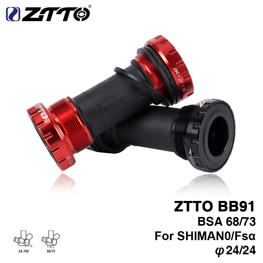 ZTTO BB91 Bearing Bottom Bracket Screw Type 68/73 Mm Bicycle Axis MTB Road Bike Bottom Bracket Waterproof CNC Alloy BB
