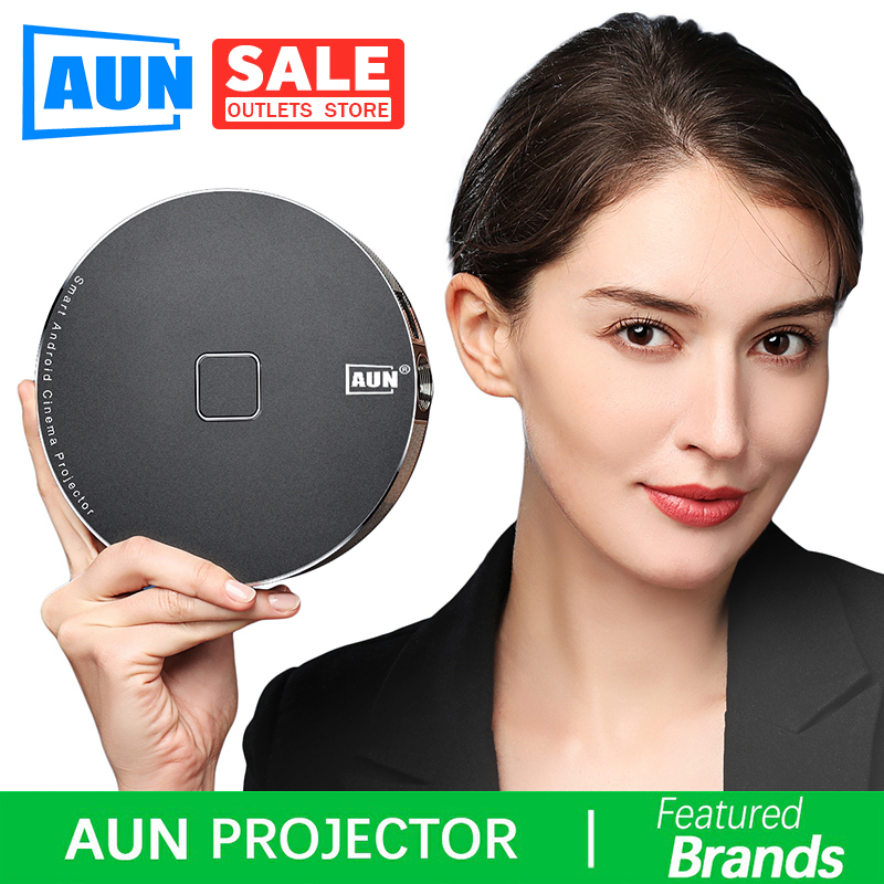 Brand AUN 3D Projector, 1280x720 Resolution.12000mAH Battery,Android WIFI. MINI Projector for Home Theater,office. 1080P,4K, D8S image