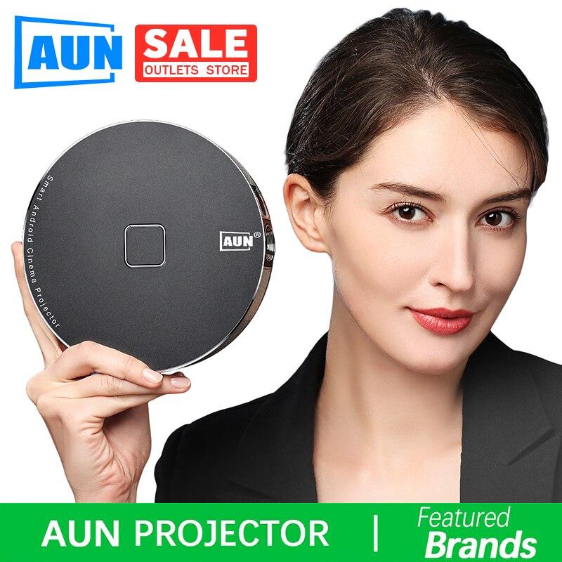 Projecteur 3D de marque AUN, 1280x720 Resolution.12000mAH batterie, Android WIFI. MINI projecteur pour Home cinéma, bureau. 1080 P, 4 K, D8S