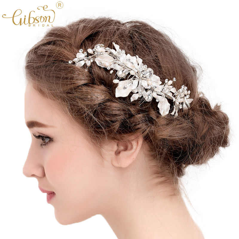 Gibsonbridal Freshwater Pearls Wedding Hair Comb Prom Party Bridesmaid Gift Headpiece Bridal Hairstyle Accessories Comb Wedding Side Combwedding Hair Aliexpress
