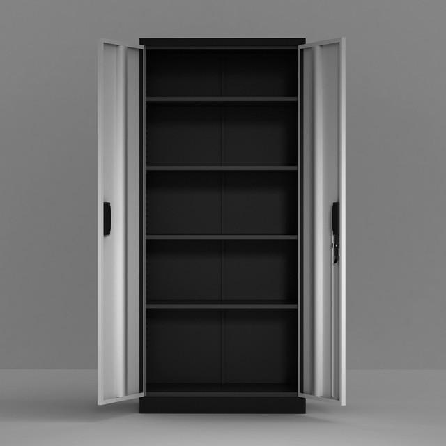Steel Storage Cabinet , 5 Shelf Metal Storage Cabinet with 4 Adjustable Shelves and Lockable Doors 3