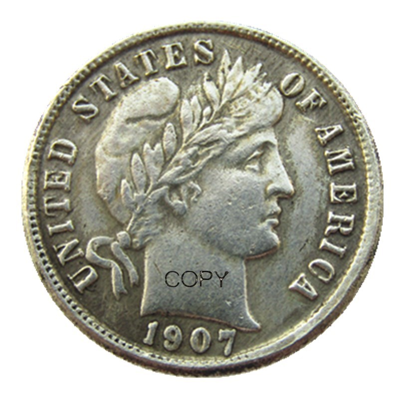 1907-S Silver Barber Dime GOOD FREE SHIPPING