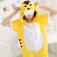Women Pajama Kigurumis Animal Cotton Short Sleeve tigger Onesie Kawaii Funny  Women Onesies Pyjamas One Piece Pajamas Adults