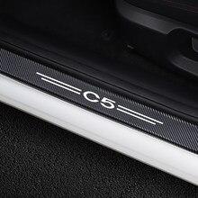Pegatina de protección de umbral de puerta para coche Citroen C5, decoración de bricolaje para automóvil, accesorios de ajuste con estilo, 4 Uds.
