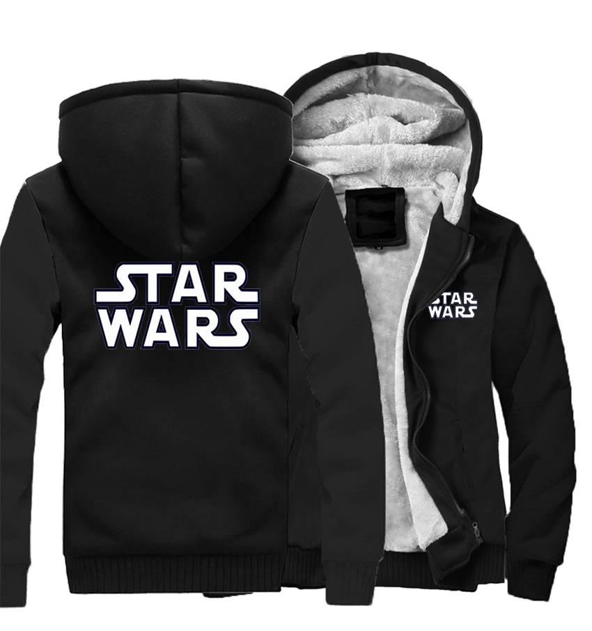 Coat Star Wars Winter Men Thick Warm Fleece Jacket Hoodies Coats Sweatshirt Hoody Zipper Tracksuit Jackets Streetweat Sportswear