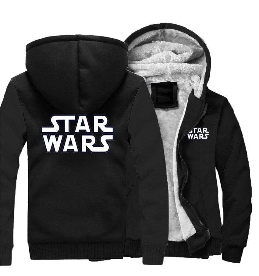 Coat Star Wars Winter Men Thick Warm Fleece Jacket Hoodies Coats Sweatshirt Hoody Zipper Tracksuit Jackets Streetweat Sportswear