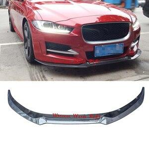 Para Jaguar XE, alerón de parachoques delantero, difusor de labio, divisor para Jaguar XE FRP, pala frontal de fibra de carbono 2015 2016 2017
