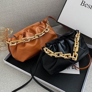 Hand Bags For Women 2020 Trend PU Leather Crossbody Bags Women's Desinger Luxury Branded Chain Shoulder Handbags Cloud Winter