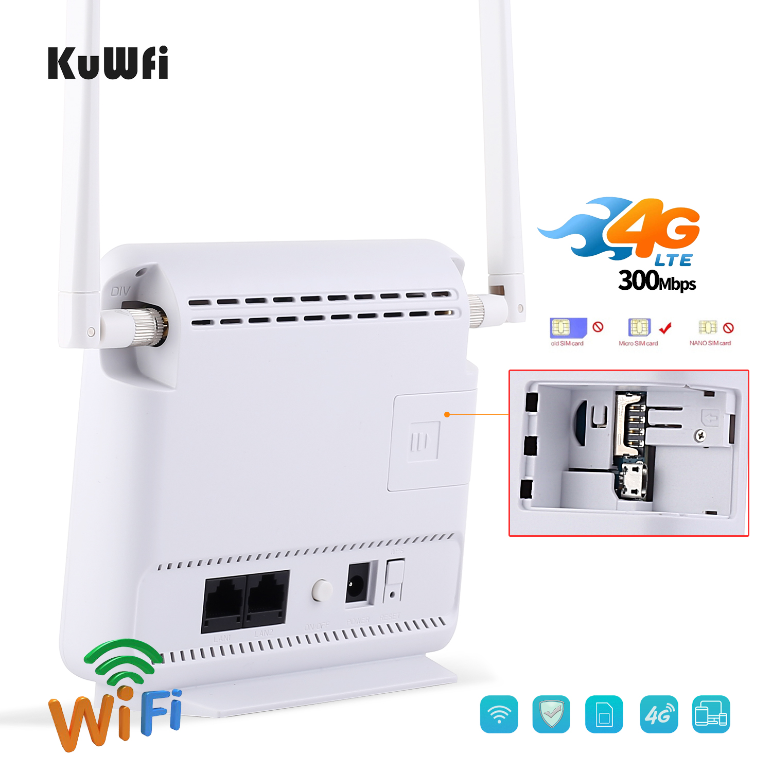 Unlocked 300Mbps Wifi Routers or 4G LTE CPE Mobile Router with LAN Port Support and SIM card 17