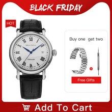カモメ2019新ビジネス腕時計カップルの腕時計機械式時計50メートル防水レザーファッションメンズ腕時計819.368