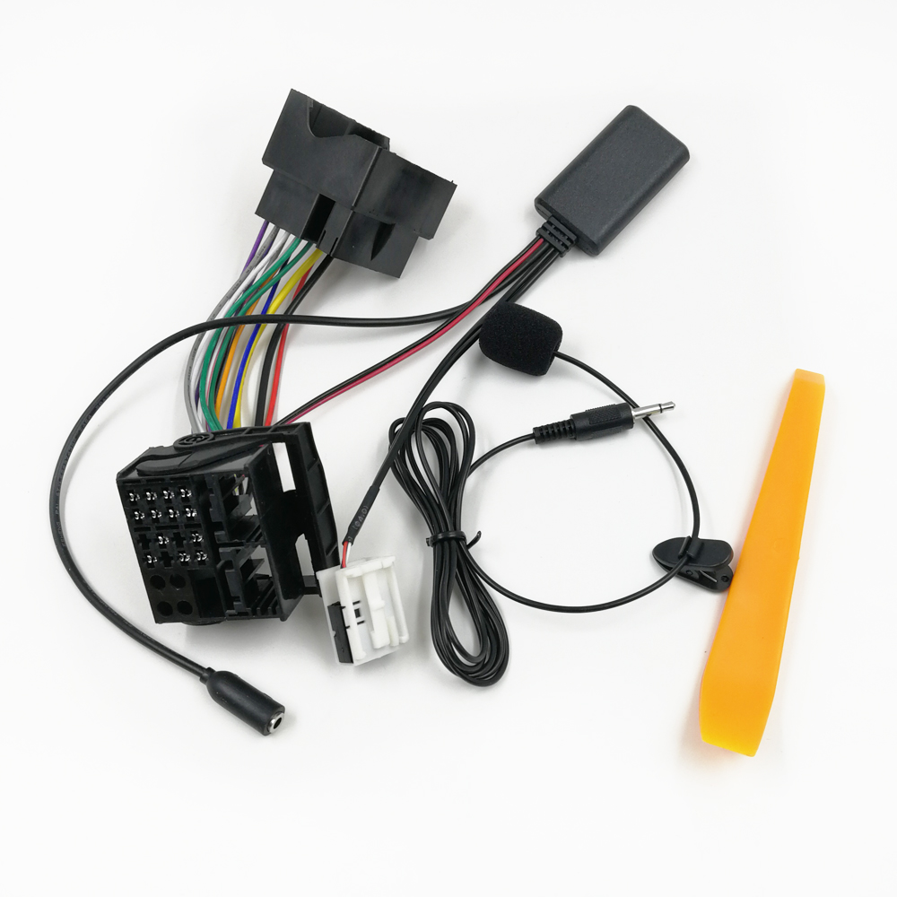 Biurlink Bluetooth 5,0 автомобильный AUX аудио вход кабель микрофон Hands Free MIC адаптер для Audi A3 TT A4 S4 A6 A8 A8 2007-2014