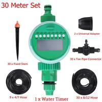 72Pcs/Set 30M DIY Micro Drip Irrigation System Plant Self Automatic Watering Timer Garden Hose Kits With Adjustable Dripper Garden Water Timers Home & Garden -