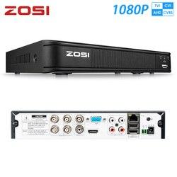 ZOSI 1080P 4CH TVI DVR AHD CVI TVI CVBS DVR 1920*1080 2MP vídeo cctv grabadora DVR híbrida videcam sistema de seguridad