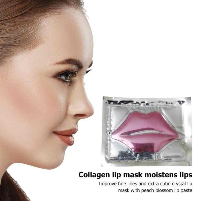 Sıcak dudak maskesi altın kristal kollajen Anti-aging kırışıklık pedi dudaklar maskeleri soyulabilir kalıcı nemlendirici besler dudak bakımı