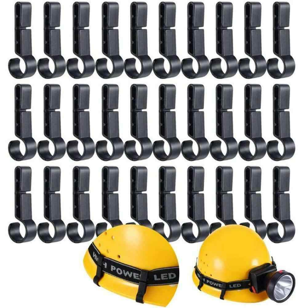 30X Plastic Helmet Headlamp Light Clips Hook for Narrow-Edged Hardhat Safety Cap