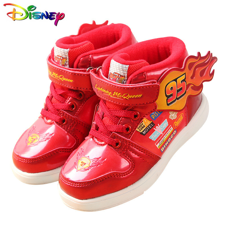 Hot Disney Cars Lightning McQueen Shoes Boy Flying 2019 Autumn Winter New Baby Breathable Sports Children Shoe Men
