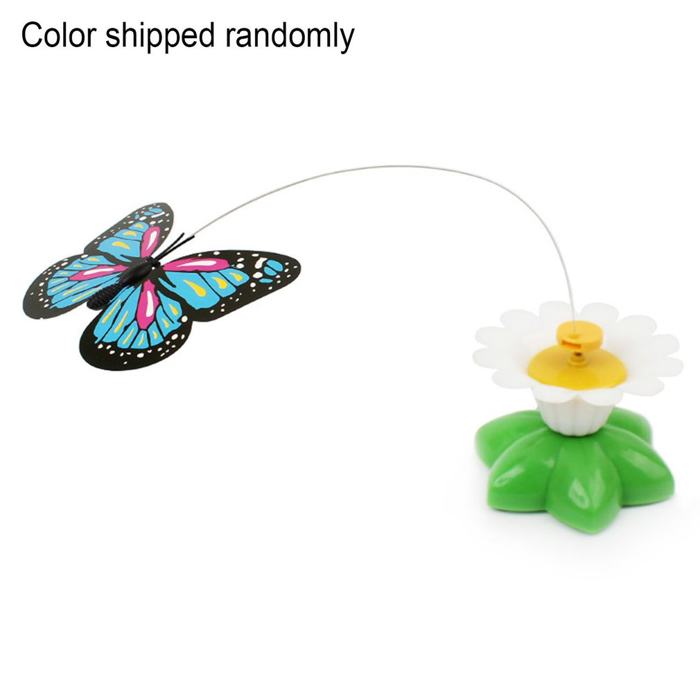 1 pcs Electric Dancing flying Birds made by feather with Hummingbird 360 Rotation Cat Toys for Teasing Birds Random Color