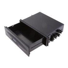 Универсальная автомобильная аудиосистема, сменный Карманный ящик для хранения, аудиоконверсионная коробка 170*128*43 мм, черный