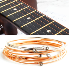 6 cuerdas de cobre puro 1-6 para Cuerdas Clásicas de guitarra de alambre de acero piezas clásicas de guitarra acústica Folk accesorios