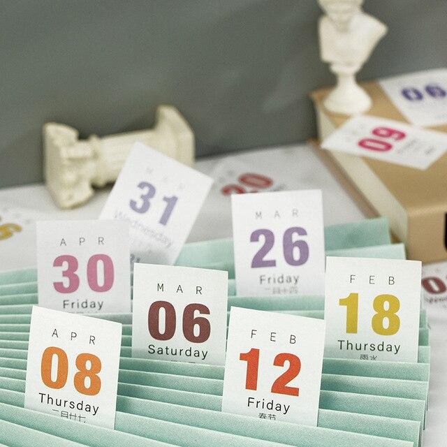 Business Accessories & Gadgets Office Calendar & Planner Mini Desktop Paper Calendar