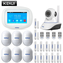 KERUI K52 אלחוטי מערכת אזעקת בית הגנה 4.3 אינץ מגע מסך WIFI GSM אבטחת בית Motion זיהוי אזעקת Buglar ערכת