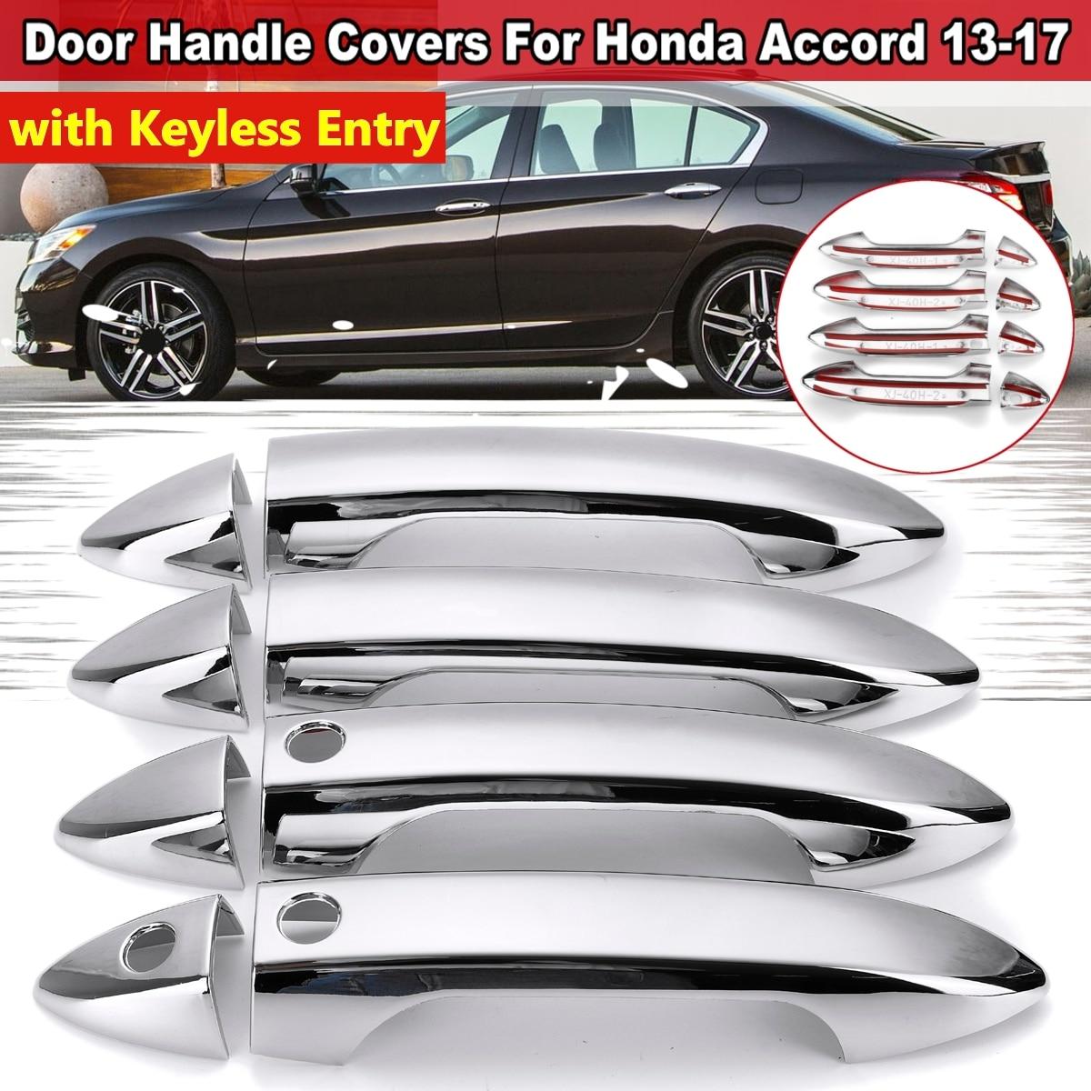 8Pcs ABS Chrome Door intelligent Handle Cover Trim Molding For Honda Accord 2018
