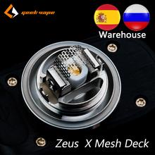 Magazyn oryginalny Geekvape zeus X kratka pomostowa siatka wersja akcesoria do papierosów elektronicznych Vape Deck dla zeus X Mesh RTA tanie tanio Uchwyt Stojak CN (pochodzenie) Geekvape zeus x mesh deck Metal