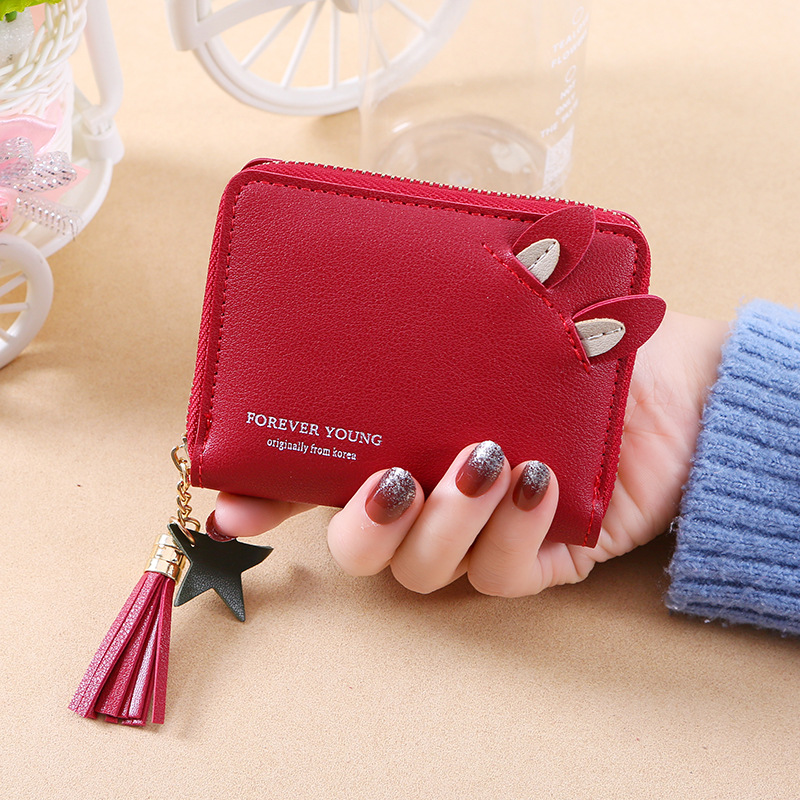 Mini Wallet Women Leather Portfel Meski Womens Wallets Purses Women Wallets Clutch Coin Purse Woman Pochette Card Holder