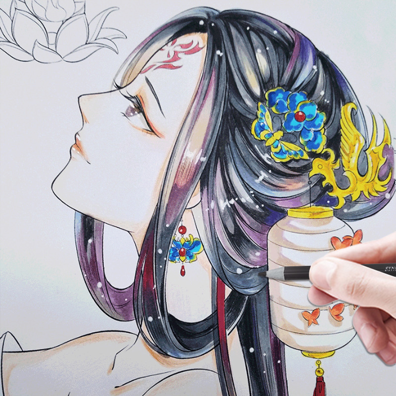 Ancient Style Chinese Coloring Books For Adults Manga Copying Painting Drawing Graffiti Relieve Pressure Picture Book Textbook