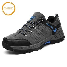 CINESSD High Quality Men Hiking Shoes Anti-Skid Outdoor Trekking Male Mountain Climbing Breathable Sports Sneakers