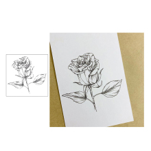 Jcarter Flower Clear Stamps Beautiful Rose Rubber Silicone Scrapbooking for Card Making Craft Decoration New Stamp 2019