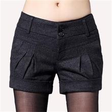 Free Shipping 2019 Womens Autumn Winter New Casual Loose A Shorts Large Size High Waist Wide Legs Wild Boot Shorts