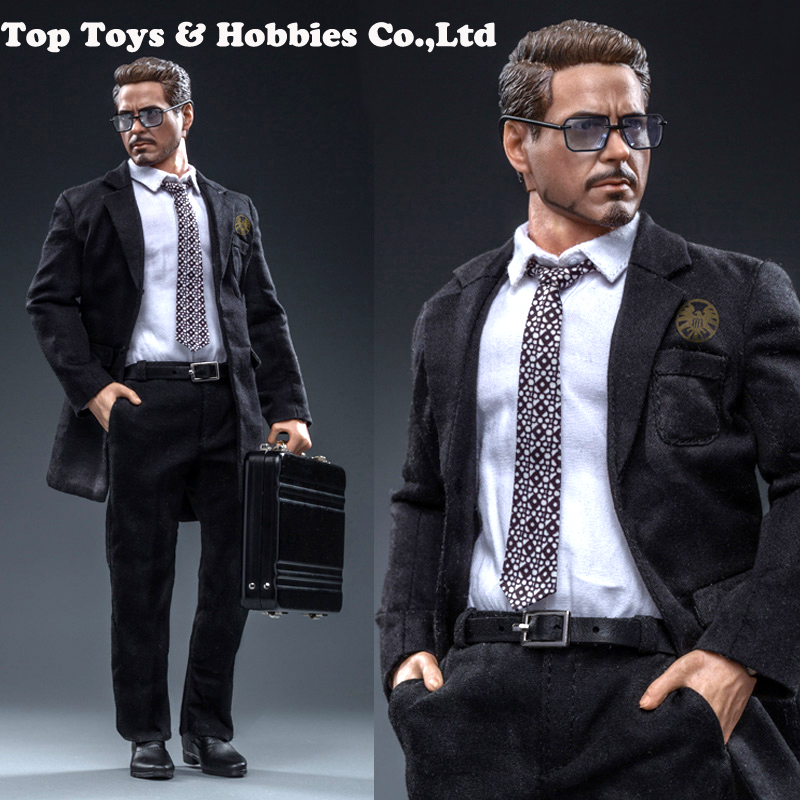 For Collection 1/6 SWtoys Tony Stark Suit With Head & Body FS021 Fu'll Set Action Figure Model Toy Fans Gift