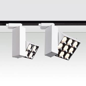 Składane 360 ° obrócone kąt lampy LED na szynę 12W 24W LED sufitowe lampy punktowe AC85 ~ 265V LED lampy W tle oświetlenie wewnętrzne tanie i dobre opinie JSEX 3 years Nikiel szczotkowany Żarówki led Nowość ROHS Klin Dotykowy włącznik wyłącznik Przemysłowe 110 v 120 v