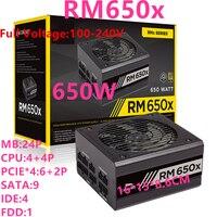 해적 브랜드 ATX 전체 모듈 80 플러스 골드 자동 전원 공급 장치 650W 전원 공급 장치 rm650x에 대한 새로운 PSU